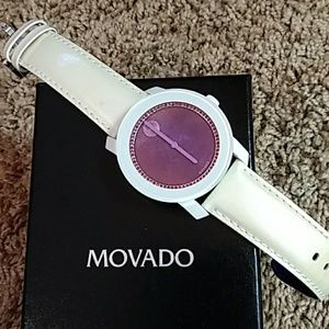 MOVADO BOLD WOMAN'S WATCH WITH RED & PURPLE GEMS